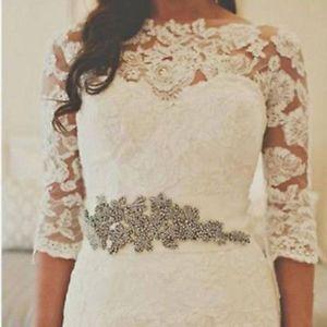 New 3/4 Sleeves Lace Lady Bridal Wrap Shawl Wedding Bolero Jacket Wedding Jacket