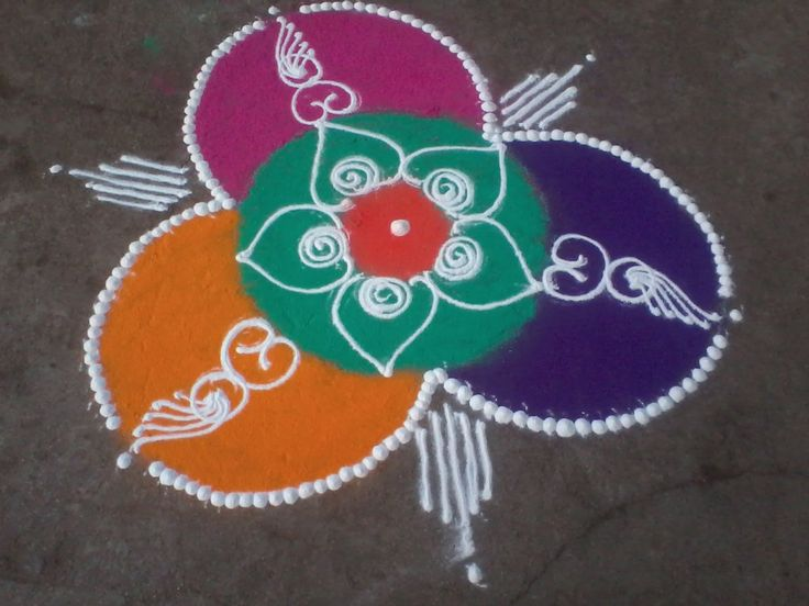 Easy and simple sanskarbharti rangoli design sanskar for Home made rangoli designs