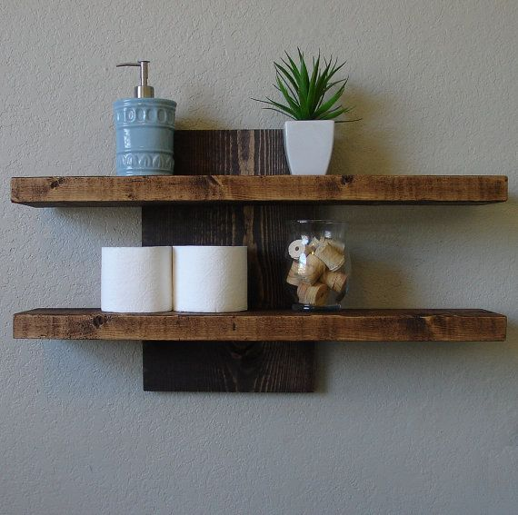 Handmade rustic modern 2 tier wall shelf. Slight offset for that unique look. Perfect for any home, apartment, or condo loft. Made from solid wood.
