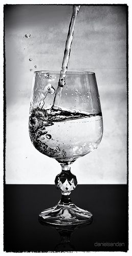 Just an ordinary glass of water