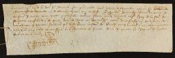2 J - Pièces isolées - Famille de Thieuville (à Montchaton et Bricquebosq) : quittance (1465), pièces généalogiques pour preuves de noblesse...