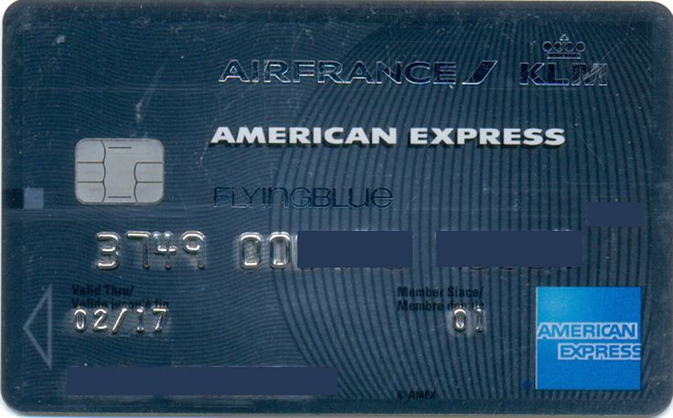 Amex Air France Platinum with chip (American Express Carte, France) Col:FR-AE-0011