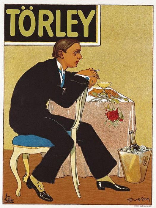 Torley Champagne Geza Farago 1877-1928 courtesy of Vintage Advertising and Poster Art