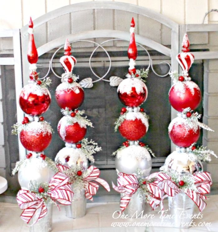 Christmas Topiaries from www.onemoretimeevents.com