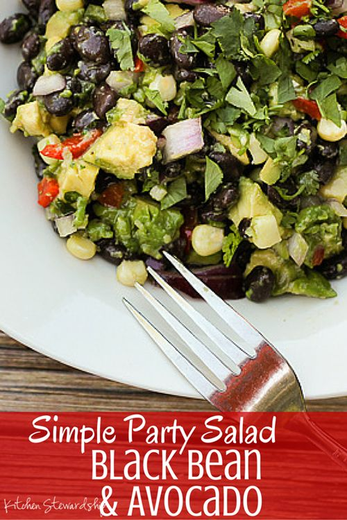 Black bean and avocado salad is a perfect starter for a Mexican meal ...