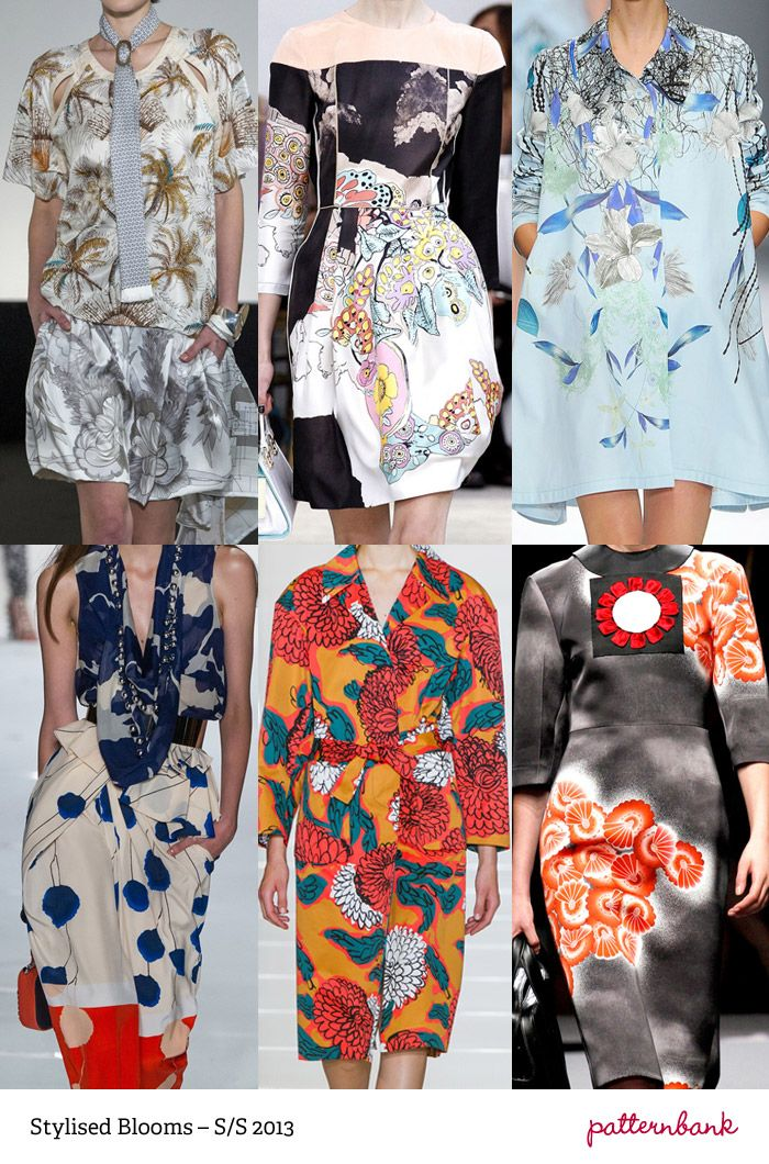 S/S 2013 Print Trends - Stylized Blooms