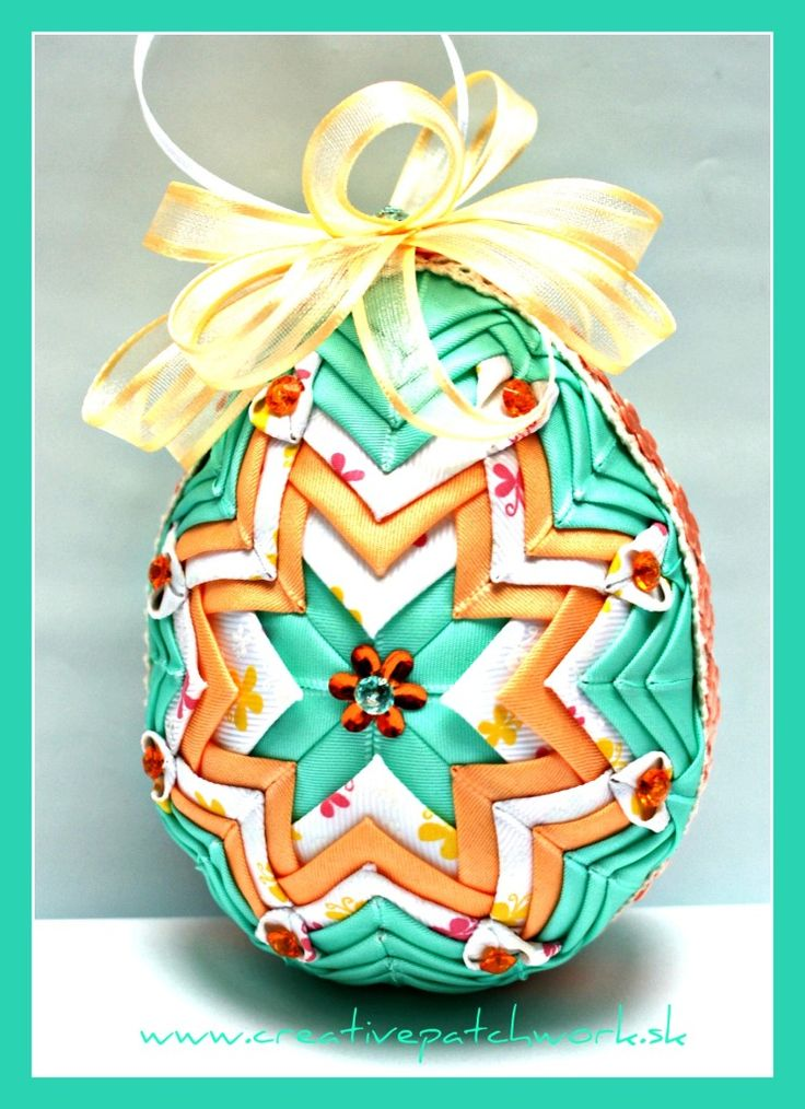 Veľkonočné patchworkové vajíčko 12 cm