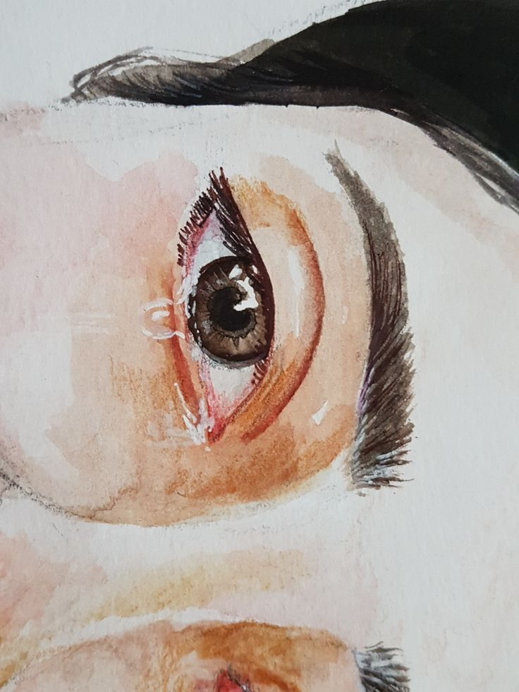 Crying #detail from my portait #watercolour