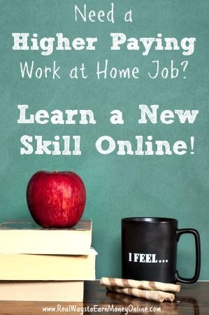 Are you tired of not being qualified for most work at home jobs? Take the time to learn a new skill! There are several online resources that make it quick and easy to learn something new that will benefit your job search. Money Making Ideas, Making Money, #MakingMoney
