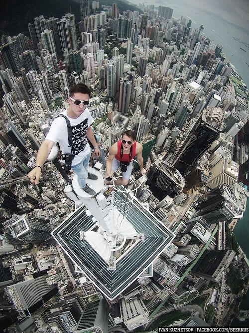 Best Urbex Craziness By Daredevil Photographers Images On - Daredevil duo climb hong kongs buildings capture like youve never seen