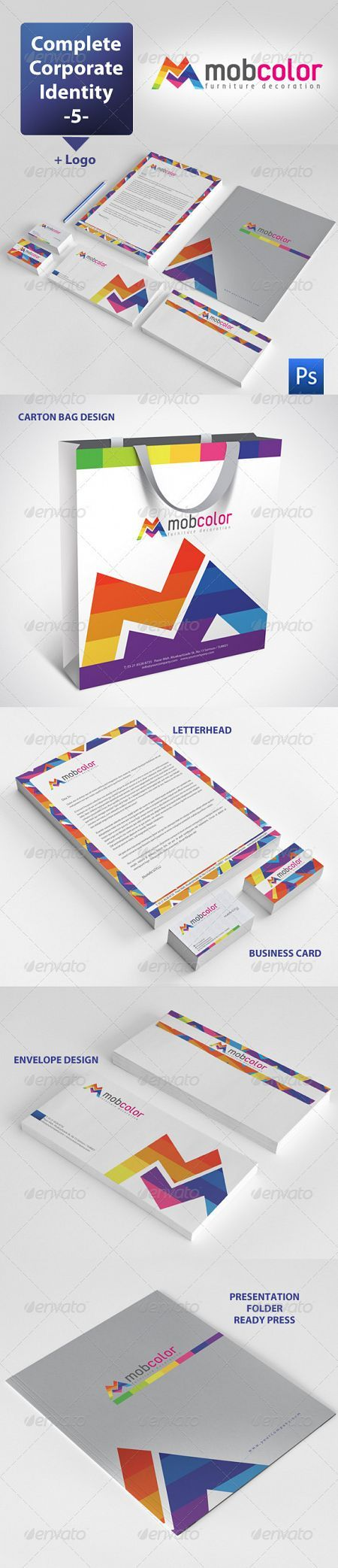 GraphicRiver - Mobcolor Corporate Identity Package