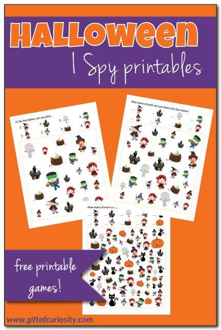 halloween i spy free halloween printables - Free Preschool Halloween Printables