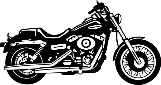 Harley Davidson Clipart Black And White Clipart Black And White Motorcycle Drawing Biker Art