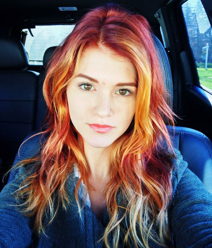 ombre hair red to blonde me pinterest nice colors