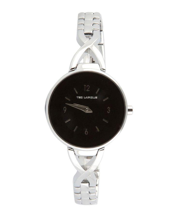 Orologio donna ted lapidus  - analogico  - tipo di vetro: minerale  - quadrante: nero  - chiusura tipo braccialetto - ma - Orologio donna a0530 Grigio