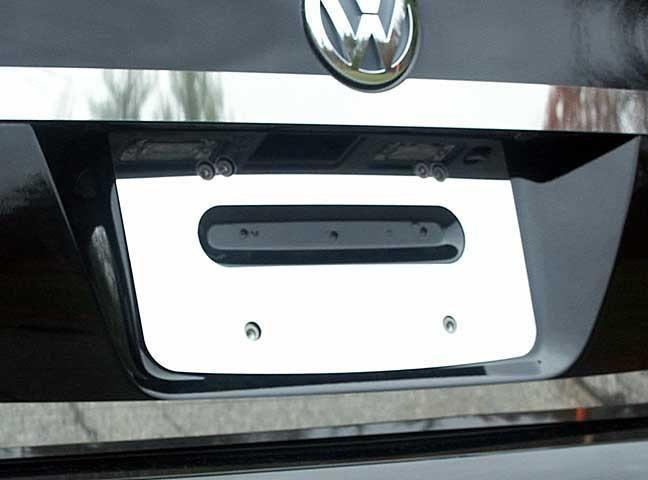 """QAA PART LP25665 fits JETTA 2005-2010 VOLKSWAGEN (1 Pc: Stainless Steel License Plate Bezel - 8.17"""" wide, 4-door) LP25665"""