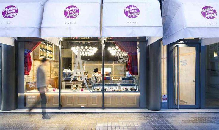 vista exterior mobiliario para cafetería