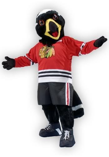 TommyHawk-Chicago Blackhawks' mascot