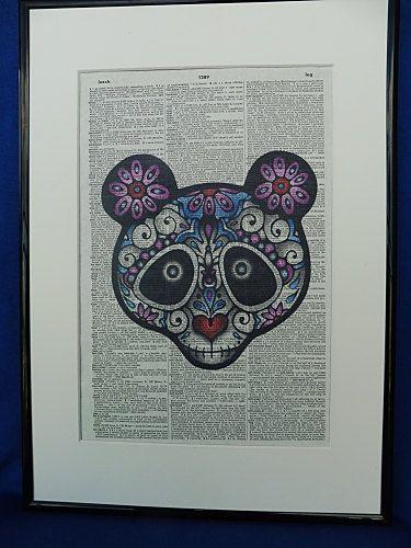 Sugar Skull Panda Dia de los Muertos Panda by DecorisDesigns