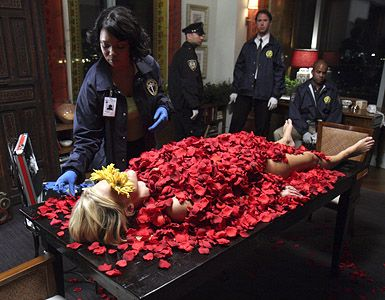 """Castle-Season 1 Episode 1 """"Flowers for Your Grave"""". I love how Beckett gets all """"fangirl but trying not to show it"""" on Castle's books in this ep:)"""