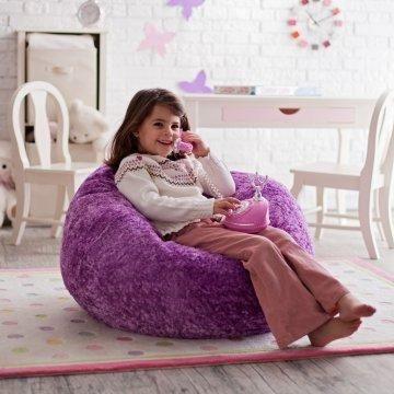 Ace Bayou Small Chenille Lounger Bean Bag Chair