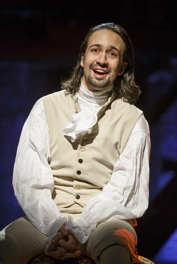 Lin-Manuel Miranda plays Alexander Hamilton in his new musical, Hamilton, at the Public Theater.