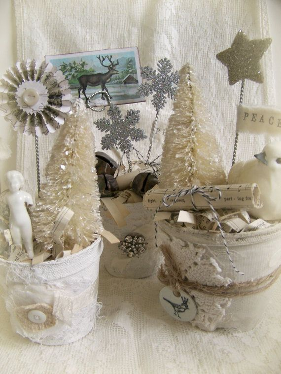 Winter White Decor Handmade Christmas Decoration by QueenBe