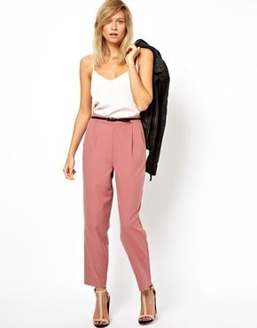 ASOS Peg Trousers in Soft Touch