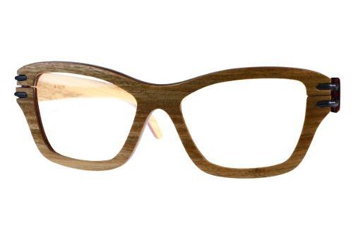 Gafas de sol en madera, filtro UV, marca Maguaco S025. Maderas: Guayacán Guajiro y Ebano Sinuano. $200.000 COP