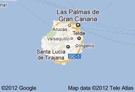 Map of the second biggest Island 'Las Palmas de Gran Canaria'