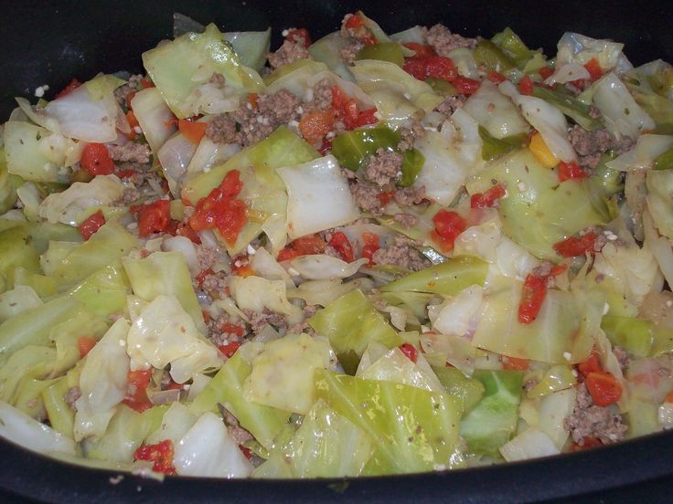 Skinny Cabbage Dump-Sounds like a better take on the standard cabbage soup that I like.
