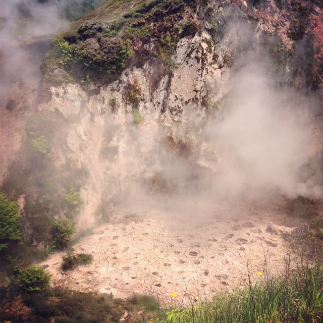 Natural thermal activity - mud crater in New Zealand