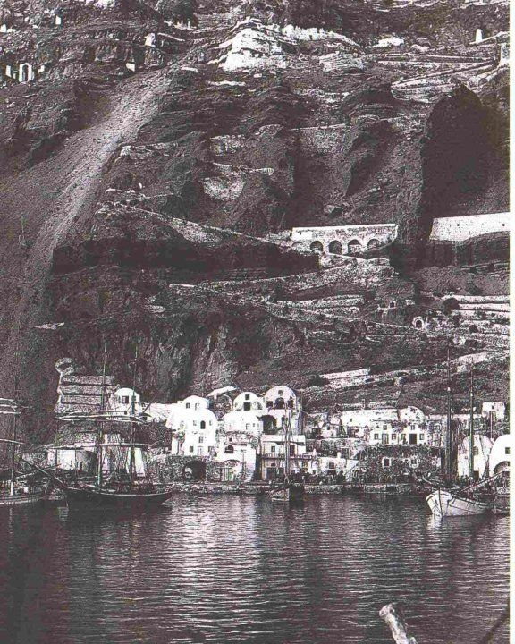 The old port of 1890s Fira (Gialos) Pnce the island's capital post was the import and export heart with 100s of Donkeys supplying the islad with imports. today is the posrt for cruise ships and caldera bay tours and Sunset tours.