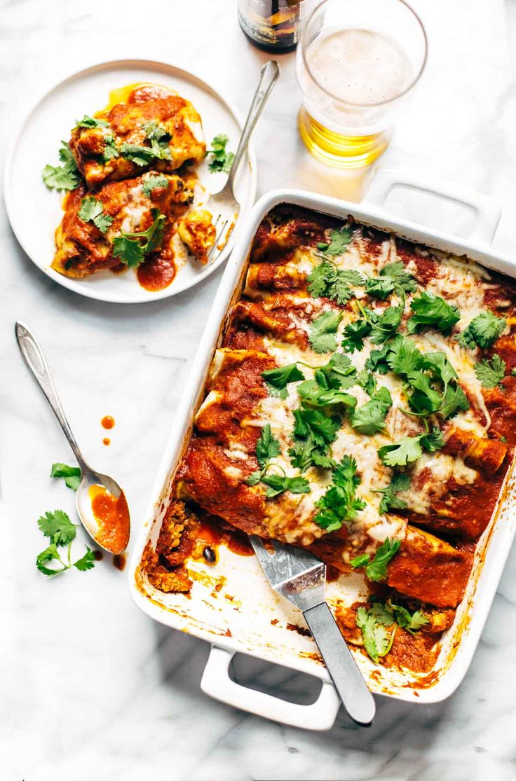 Chicken Quinoa Enchiladas - you won't believe how easy this recipe is! Comfort…
