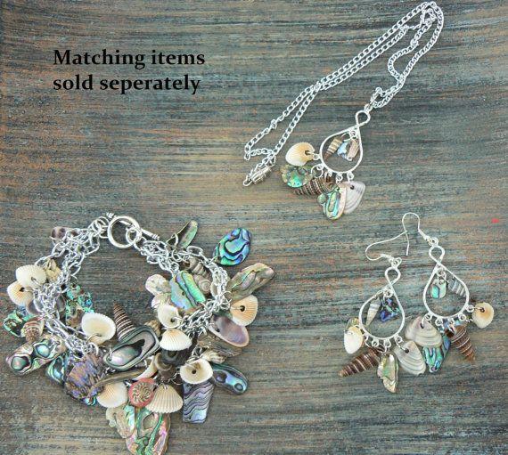 resort wear abalone bracelet seashells cruise by gildedingypsy, $52.00
