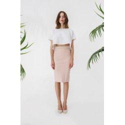 Ecoleather powder pink skirt #rosequartz #minimalism