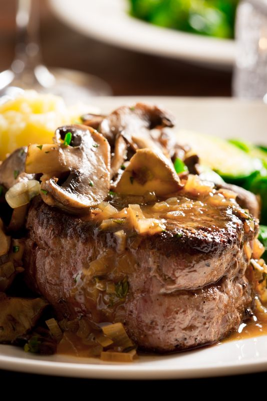 Sexy Steaks, Filet Mignon with Tarragon Mushrooms and Shallot Vermouth ...