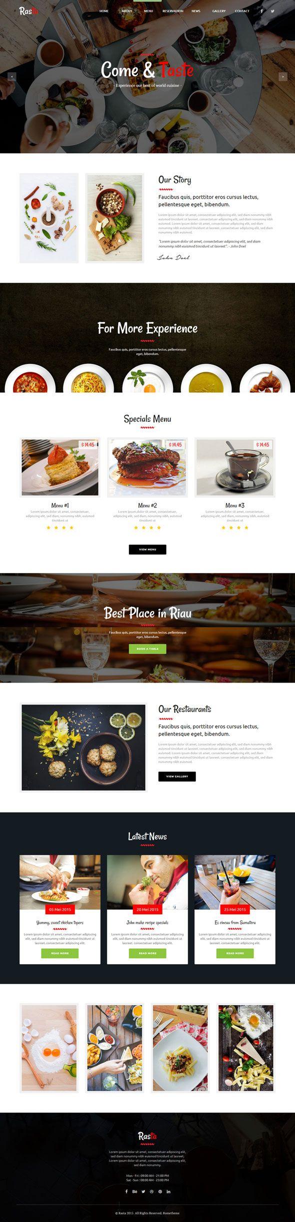 Rasta - Restaurant Muse Template by #rometheme #themeforest