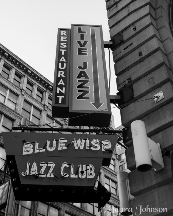 Jazz club sign cincinnati fine art photography home and office decor 5