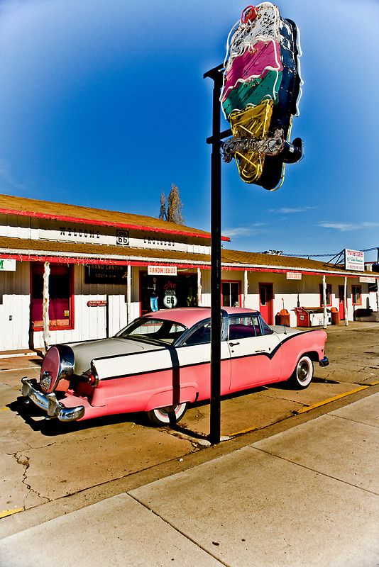 Twisters Ice Cream Shop, by PhotosbyFlood. Route 66 Williams, Arizona.