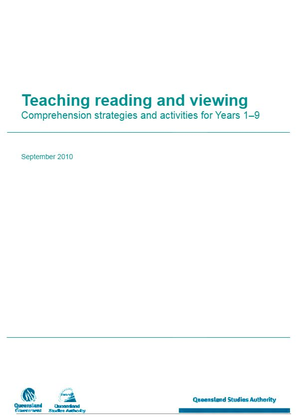 Teaching reading and viewing - Comprehension strategies and activities for Years 1-9