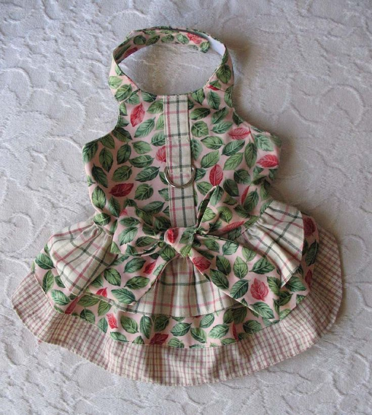 Harness Dress for small dog Size Small. $22.00, via Etsy.