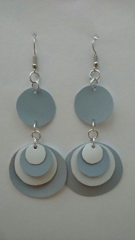 Easy and simple - make earings from plastic milk bottle                                                                                                                                                      More