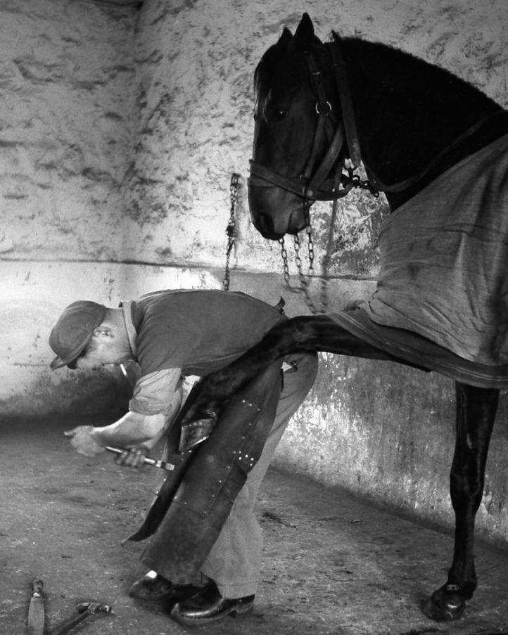 Le maréchal ferrant / Robert Doisneau, 1954