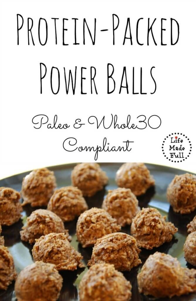 These Protein-Packed Power Balls are Paleo and Whole30 compliant! Perfect for after a workout or a quick snack!