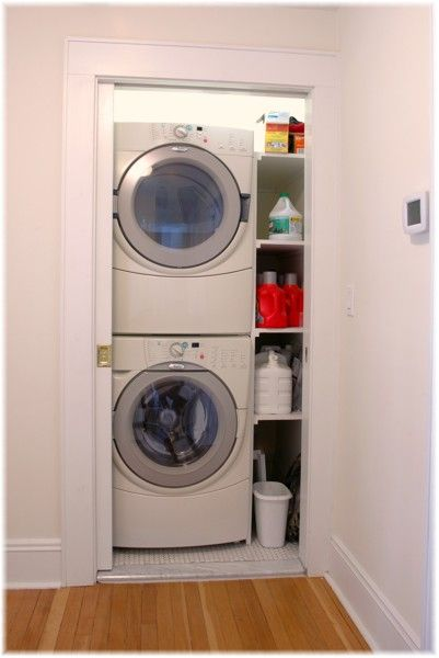 Best 25 small laundry closet ideas on pinterest laundry for Laundry in bathroom ideas