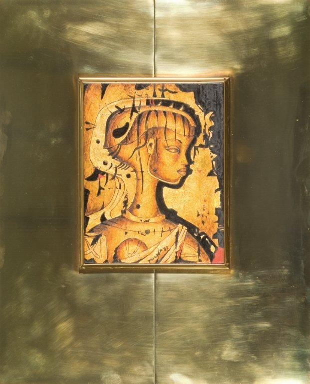 Alexis Preller, Gold Primavera, 1967. Oil and gold leaf on wood. 23 x 18 cm. Private Collection (Source Standard Bank Gallery)