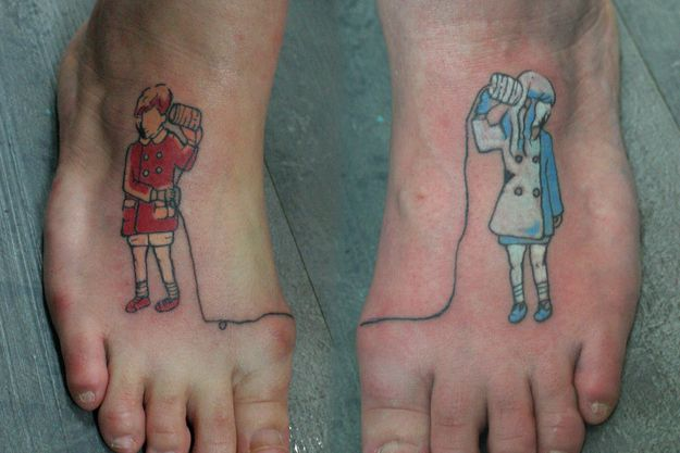 74 Matching Tattoo Ideas To Share With Someone You Love- this is my favourite representing that I'm always there to listen