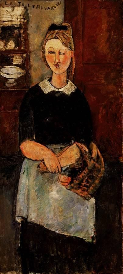 The Pretty Housewife  - Amedeo Modigliani 1915