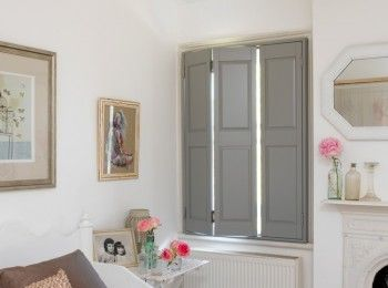 Solid shutters and solid panel shutters for interior - Solid panel interior window shutters ...